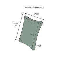 Green Edge Rounded Picture Frame - Sign Holders