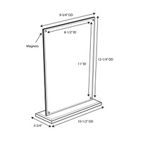Magnetic Elite Series 8-1/2 x 11 Sign Holder / Picture Frame