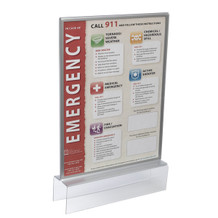 Silver Sign Holders for Cubicle Top View - Plastic Products Mfg