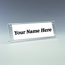 Counter top Magnetic Name Plate Holder - Style NPA3
