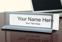 Bordered Desk Nameplates - Name Plate Holders