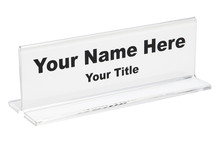 Desk Name Plates Clear - Plastic Products Mfg
