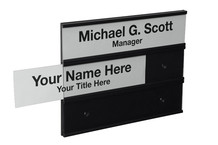 3-Tier Interchangeable Wall Name Plate Holders - Plastic Products Mfg