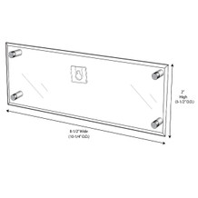 Wall-Mount Name Plate Holder With Screw Posts - NPW085020