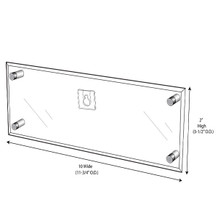 Wall-Mount Name Plate Holder With Screw Posts - NPWS100020