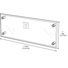 Wall-Mount Name Plate Holder With Screw Posts - NPWS110020