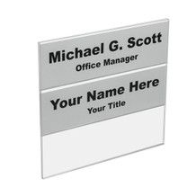 Wall 3-Tier Directional Name Plates - Plastic Products Mfg