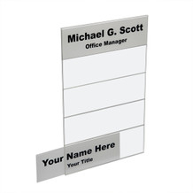Wall 5-Tier Directional Name Plates - Plastic Products Mfg