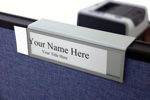 Cubicle Nameplates - Bordered Colored Name Plate Holders
