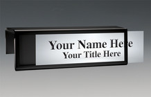 Cubicle Nameplates - Black Border Nameplates