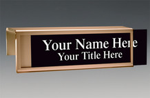 Cubicle Nameplates - Bronze Border Cubicle Nameplates
