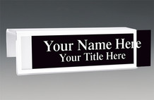 Cubicle Nameplates - White Border Cubicle Nameplates