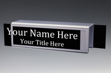 Silver Cubicle Nameplates Double Sided - Cubicle Name Plate Holders