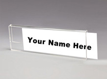 Glass Cubicle Nameplate Holder - Name Plate Holders