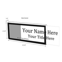 "Black Border Nameplate for 1/2"" Glass Wall Cubicle - NamePlates"