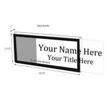 "Black Border Nameplate for 1"" Glass Wall Cubicle - NamePlates"