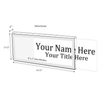 "White Border Nameplate for 1"" Glass Wall Cubicle - NamePlates"
