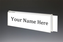 Glass Cubicle Name Plate Holders - Double Sided Nameplates