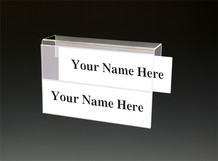 2 Tier Cubicle Name Plates - Name Plate Holders