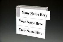 3 tier Cubicle Name Plates - Name Plate Holders