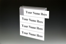 4-Tier Cubicle Name Plates - Name Plate Holders