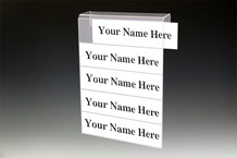 5-Tier Cubicle Name Plates - Name Plate Holders