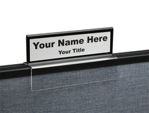 Black border top view cubicle nameplates - NamePlate Holders