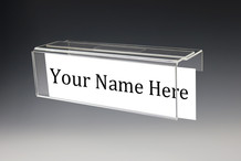 Universal Adjustable Cubicle Name Plate Holders - Name Plates