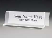 Thick Base Desk Name Plate Holders - Desk Name Plates