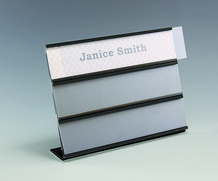 Interchangeable Multi Tier Name Plates