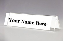 Desk Top Name Plate Holders - Table Tent