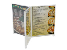 Lucite Sign Holder Style D6F - 6 Panel Table Tents