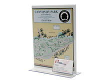 Sign Display Holders with Business Card Holders