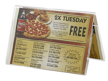 Restaurant Table Tents - Double Sided Sign Holders