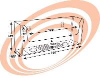 "8-3/4"" Pamphlet Holder Line Drawing"